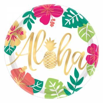 8 große Aloha-Teller
