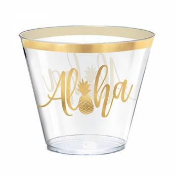 30 Aloha Kunststoff-Gläser