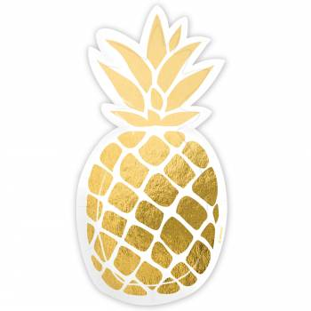 6 telles in form ananas gold