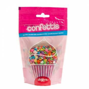 Konfetti aus Zucker herz bunt 100gr