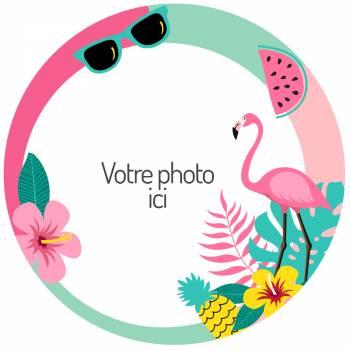 Flamingo Zucker Dekor zu personalisieren