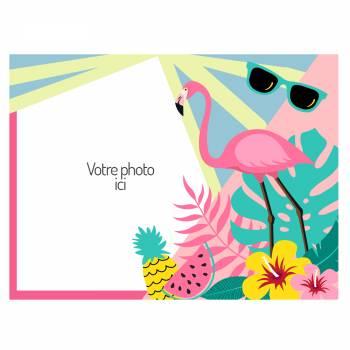 A4 Flamingo Zucker Dekor zu personalisieren