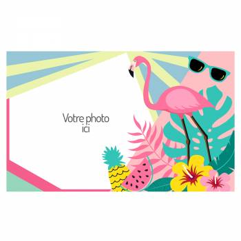 A3 Flamingo Tropical Zucker dekorieren zu personalisieren