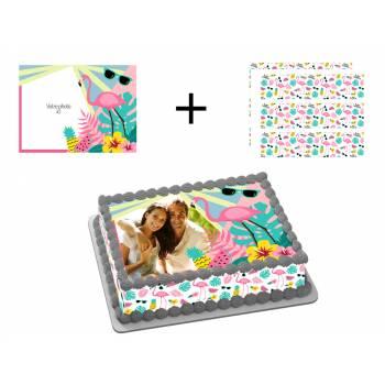 Easycake flamingo tropischen Kit zum Anpassen von A4