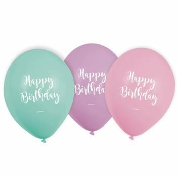6 Pastellballon Birthday
