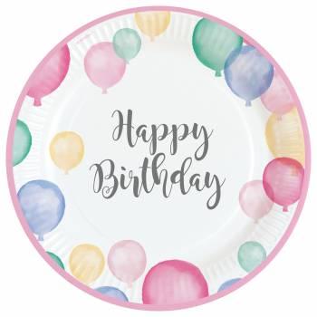 8 Teller Birthday Pastell