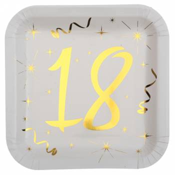 10 Teller Goldenes Alter 18 Jahre