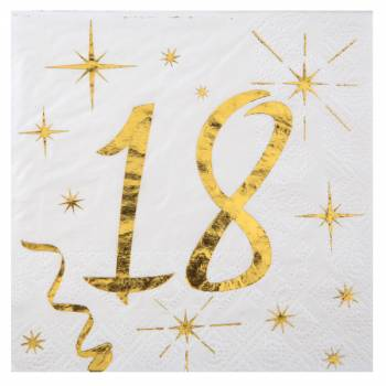 20 Handtücher Goldenes Alter 18 Jahre