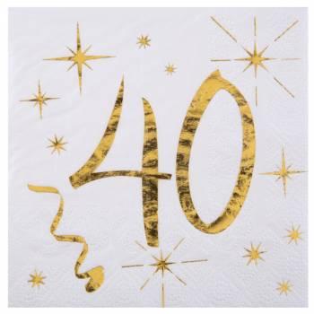 20 Servietten Goldenes Alter 40 Jahre