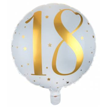 Helium-Ballons Goldenes Alter 18 Jahre