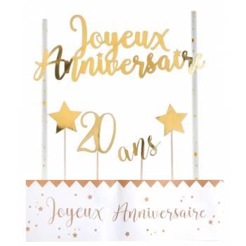 Kuchen-Set Happy Birthday 20 Jahre