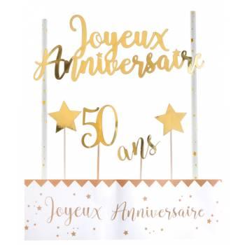 Kuchen-Set Happy Birthday 50 Jahre