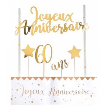 Kuchen-Set Happy Birthday 60 Jahre