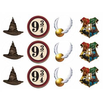 12 Essbare Muffinaufleger Zauberer