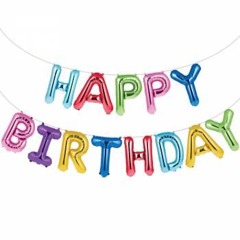 Happy birthday Luftballon-Girlande