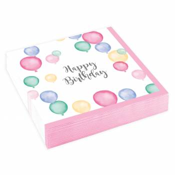 20 servietten Dessert Birthday Pastell