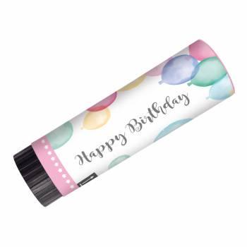 2 Konfetti-Kanonen happy birthay pastell