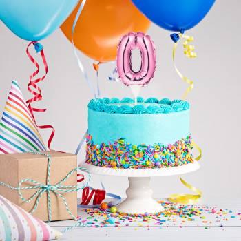 Cake topper Ballon rosa 0
