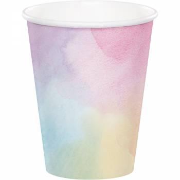 8 irisierte Pastell papierbecher