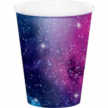 8 Papierbecher galaxy