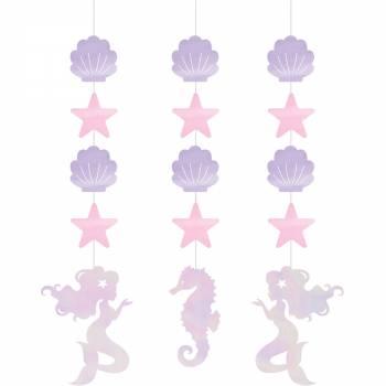 3 Guirland Glitter Meerjungfrau shine