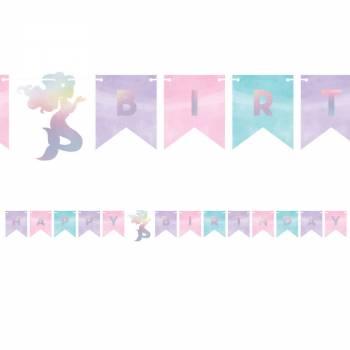 Guirland Happy Birthday Meerjungfrau shine