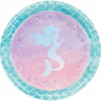 8 Teller Meerjungfrau Hologramm