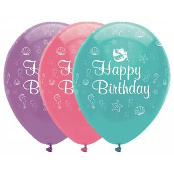 6 Luftballons Meerjungfrau shine