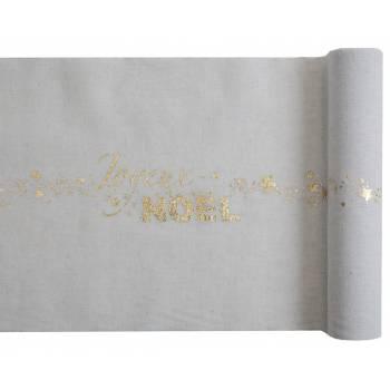 Tischpfad Frohe Weihnachten Baumwolle Gold