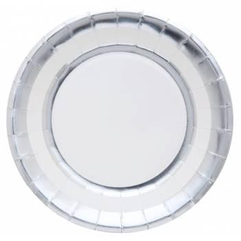 10 Teller Metallic Silber