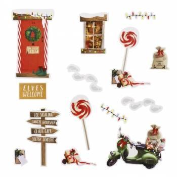 14 Mini-Sticker Elf