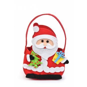 Weihnachtsmann-Beutel Filz