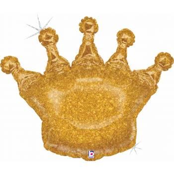 Helium-Ballon Gold Krone