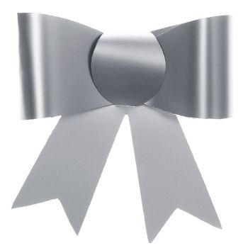 4 Kleine Knoten Aufkleber Silber