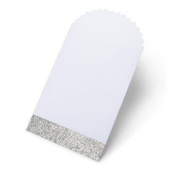 8 Taschen Glitzer Silber