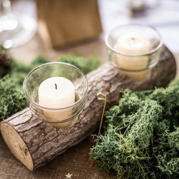 Kerzenständer aus Holz doppel