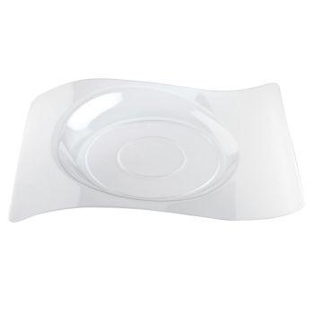 6 transparente Design-Teller