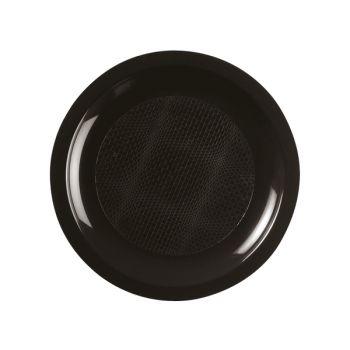 10 Teller Runde Dessert schwarz