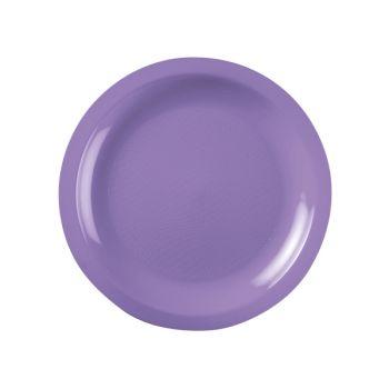 10 Teller Runde lila Dessert