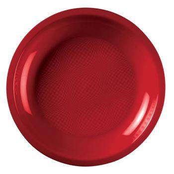 10 Runde Teller rot