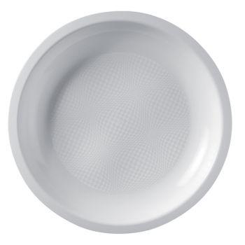 10 Weiße Runde Teller