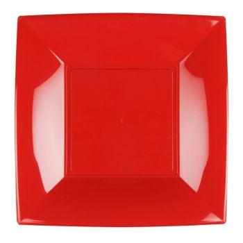 8 quadratische Teller grau