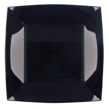 8 schwarze Quadratische Teller