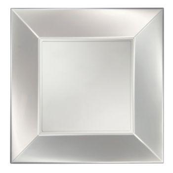 8 Quadratische Teller Perle