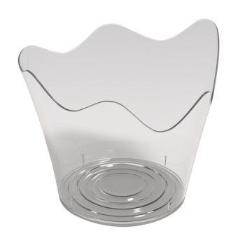 25 glas transparent tulpe