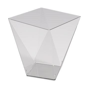 25 transparente Diamant-Glas