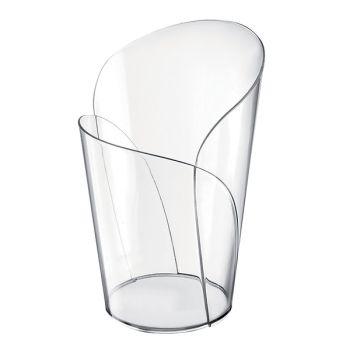 25 glasgrüne glas transparente Blütenblätter