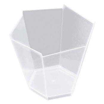 25 transparentes Hexagonale Glas