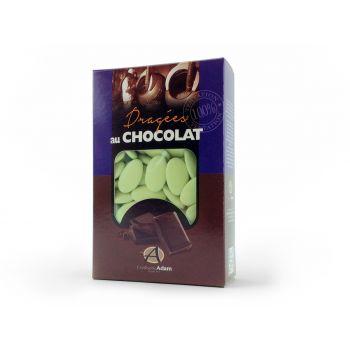 Dragees schokolade glänzend wassergrün 500gr