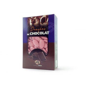 Dragees schokolade glänzend rosa perlmutt 500gr